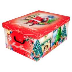KREHER Aufbewahrungsbox Weihnachtsmann rot