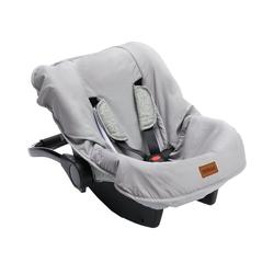 Fillikid Babyschale Sommerbezug für Babyschale, hellgrau grau