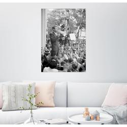 Posterlounge Wandbild, Robert F. Kennedy spricht über Gleichberechtigung zu einer Menschenmenge 70 cm x 90 cm