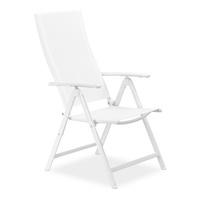 Relaxdays Gartenstuhl 56 X 100 X 100 Cm Weiß Klappbar