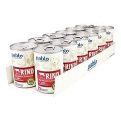Pablo Hundefutter Naturals Rind 400 g, 12er Pack