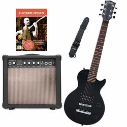 Rocktile L-50B Junior 3/4 Mensur E-Gitarre SET mit Verstärker, Gurt, Kabel und Schule inkl. CD/DVD