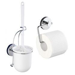 WENKO Vacuum-Loc® Toilettenpapierhalter Milazzo und WC-Garnitur, 2-teiliges Set