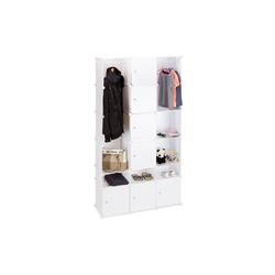 relaxdays Kleiderschrank XXL Kleiderschrank mit Stecksystem weiß