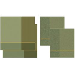 DDDDD Geschirrtuch Blend, (Set, 4-tlg), Combiset_ 2 Küchentücher & 2 Geschirrtücher grün