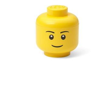 LEGO Aufbewahrungskopf, Mini, Junge, Gelb, one Size