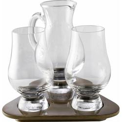 Stölzle Whiskyglas Glencairn Glass, Kristallglas, 2 Gläser, 1 Krug auf Tablett