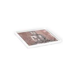 HTI-Line Tablett Tablett Buddha, Holz, Tablett