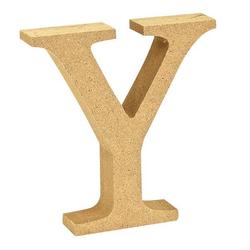 """VBS Buchstaben """"MDF"""" 8 cm x 1,5 cm bunt Buchstabe """"Y"""""""