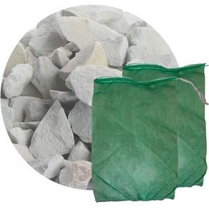 Schicker Mineral Zeolith Filterset (10 kg Zeolith und 2 Filtersäcke) Gartenteich, ideal geeignet als Wasseraufbereiter für Gartenteich und Aquarium (8,0-16,0 mm)