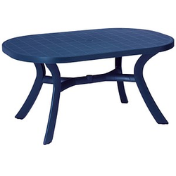 BEST Gartentisch Kansas blau oval