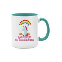 Shirtracer Tasse Mir reichts, ich geh schaukeln - Einhorn - Einhörner - Tasse zweifarbig - Tassen, tasse einhorn