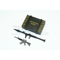GPM-ZSP024-OC TRX-4 Defender Scalezubehör Waffenkiste + Waffe für Crawler (B) -3-teiliges Set