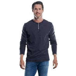 Lässiges Henley Shirt Engbers Saphirblau
