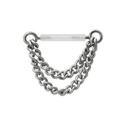 Wildcat Brustwarzenpiercing Brustwarzenpiercing Push-fit Nipple Chain