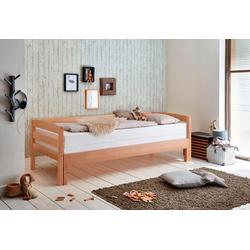Relita Funktionsbett, mit Lattenrost und Auszug auf 180x200 cm braun