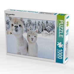 Alpakas Schneegestöber (Puzzle)
