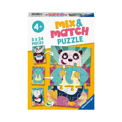 Ravensburger Puzzle Puzzle 3x 24 Teile - Witzige Tiere, Puzzleteile