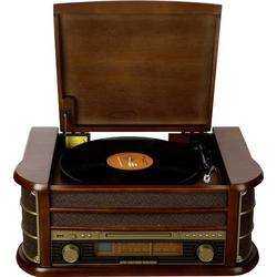 Denver MCR-50 USB-Plattenspieler Holz
