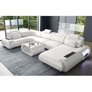 Sofa Dreams Wohnlandschaft Rimini, U Form weiß