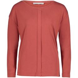 Betty&Co Rundhalsshirt mit eingelegter Falte vorne rot 40 (L)