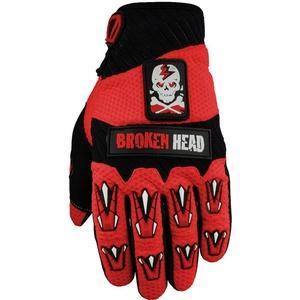 Broken Head Motorradhandschuhe Faustschlag rot Weiteneinstellung L