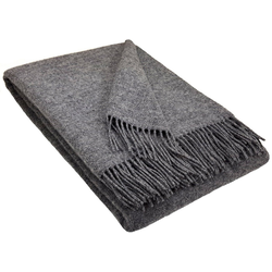 Wolldecke Wolldecke TIROL (doubleface) aus 100% Schurwolle, STTS grau