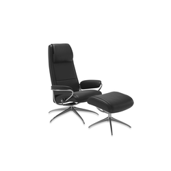 Stressless Ruhesessel Paris High Back (M) in Noblesse black mit Star Gestell