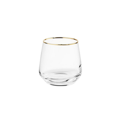 BUTLERS Glas TOUCH OF GOLD 6x Glas mit Goldrand 345 ml, Glas