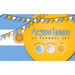 UV Farbgel Set - Argentinien 5ml