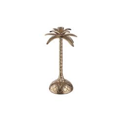BUTLERS Kerzenhalter GOLDEN NATURE Kerzenhalter Palme Höhe 32cm
