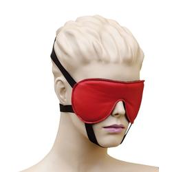 Bondag Leder Augenmaske Augenbinde mit 3 Gummizügen rot