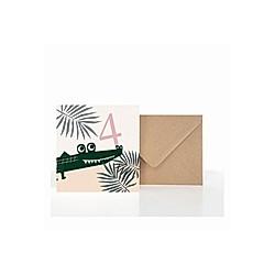 Grußkarte 4. Geburtstag (VE5)