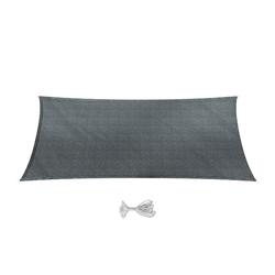 Oskar-Store Sonnensegel Sonnensegel Rechteck 2x4 Anthrazit Sonnenschutz Windschutz UV-Schutz HDPE