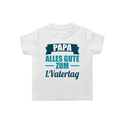 Shirtracer T-Shirt 1. Vatertag - Vatertagsgeschenk Tochter & Sohn Baby - Baby T-Shirt kurzarm - T-Shirts vatertagsgeschenke 1. vatertag 1/3 Monate