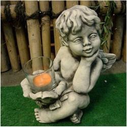 Engel mit Teelicht