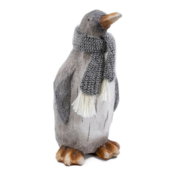 NOOR LIVING Dekofigur Pinguin (1 Stück), mit Wollschal, Höhe 38 cm