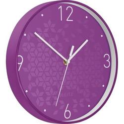 Wanduhr Wow Kunststoff 29cm violett