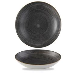 12 x Schale rund 24,8cm STONECAST RAW Black