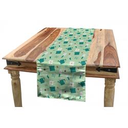 Abakuhaus Tischläufer Esszimmer Küche Rechteckiger Dekorativer Tischläufer, Garten-Kunst Bunte Garten 40 cm x 300 cm
