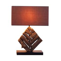 Kiom Tischleuchte Holzleuchte Saltillo braun & Holz Natur 35x46 cm