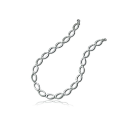 Balia Collier BAK001S45 Balia Damen Collier Halskette matt-glanz (Colliers - Halsketten), Damen Colliers, Halsketten Oval 925 Sterling Silber, Farbe: silber