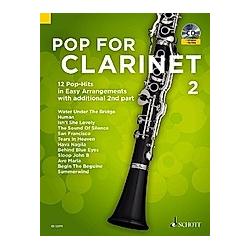 Pop For Clarinet  für Clarinet  m. Audio-CD - Buch
