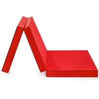 BADENIA Kaltschaummatratze »Gästematratze 3teilig«, Badenia, 8 cm hoch, Raumgewicht: 25, rot
