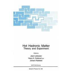 Hot Hadronic Matter als Buch von
