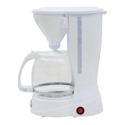 DESKI Filterkaffeemaschine, 1.5l Kaffeekanne, Dauerfilter oder Papierfilter 2, Kaffeemaschine 12 Tassen Filterkaffeemaschine Glas Kanne Kaffee Maschine 800W weiß