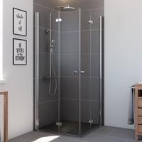 BREUER Elana Komfort Eckeinstieg 100 x 100 cm Alu silber matt/Klarglas CER
