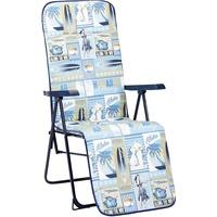 BEST Freizeitmöbel Chiemsee Relaxliege 58 x 75 x 108 cm blau klappbar