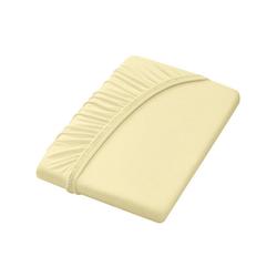 Dormisette Spannbettlaken gelb 90-100 cm x 190-200 cm