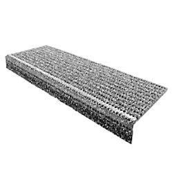 Floordirekt Step Stufenmatte PES, Glasgarn, PVC Grau 250 x 730 mm
